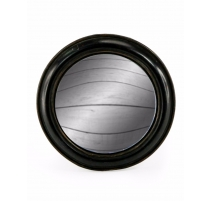 Medium convex mirror frame round wide black