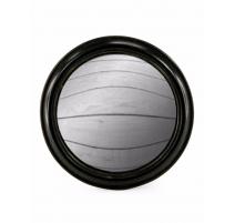 Большое выпуклое зеркало круглой раме широкий черный