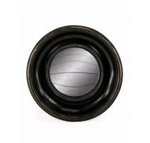 Небольшое выпуклое зеркало круглой раме глубокий черный