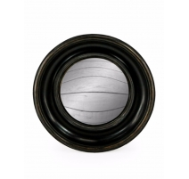 Medium convex mirror frame round deep black