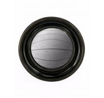 Gran espejo convexo marco redondo de color negro profundo