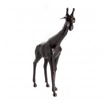 雕塑的长颈鹿皮
