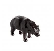 Sculpture Bear leather