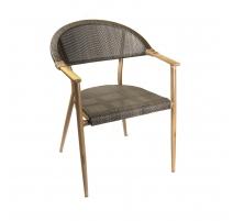 Chair Rio aluminum painted faux bois