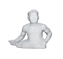 Sculpture in porcelain Worker valiant