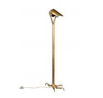Lamp on foot Falcon of gold-coloured aluminium