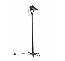 Lamp on foot Falcon black aluminum