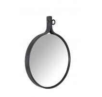 Spiegel im Attraktiven aluminium, schwarz pulverbeschichtet