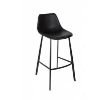 Sitz bar-Franky aus metall und kunstleder schwarz
