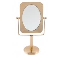 Espejo de mesa en dorado metal