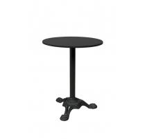 Стол для бистро из чугуна и черного мрамора