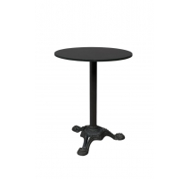 Table bistro cast iron and black marble