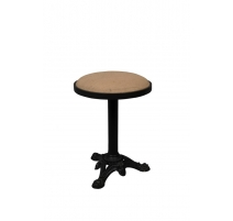 Stool bistro cast iron and jute