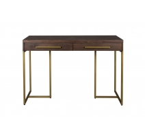 Console Class in gilt metal and acacia