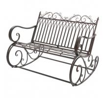 Bench rocking Bordeaux wrought iron brown
