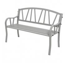 Garden bench Odense in aluminum light grey