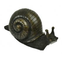 Escargot en bronze, goulot de fontaine