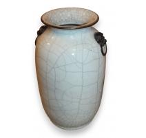 Vase Celadon craquelé (Réparé)