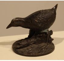 Poule d'eau en bronze