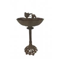 Bain d'oiseau en forme de coquillage en fonte
