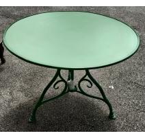 Table ronde modèle Arras en fer forgé vert