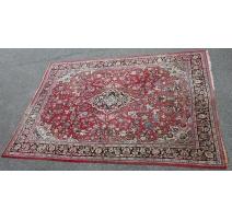 地毯Sarouk红色背景