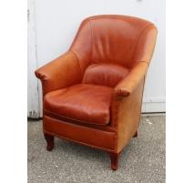 Кресло Carolina кожа Гавана
