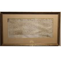 Документ старый блок, датированный 1699