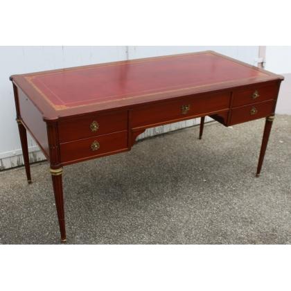 Plana, escritorio estilo Luis XVI Necker de caoba