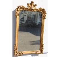 Spiegel Louis-XV-giebel, palmen und muscheln