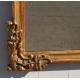 Miroir Louis XV fronton Palme et coquilles
