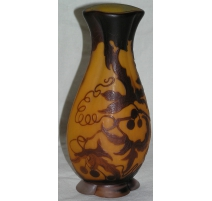 Vase by GALLE, orange-brown.