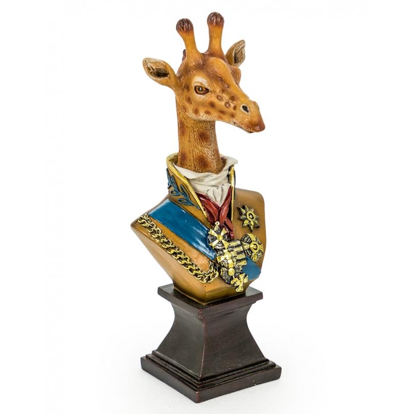 Büste, giraffe-in-uniform-im-harz