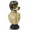 Busto de perro piloto de carreras de resina