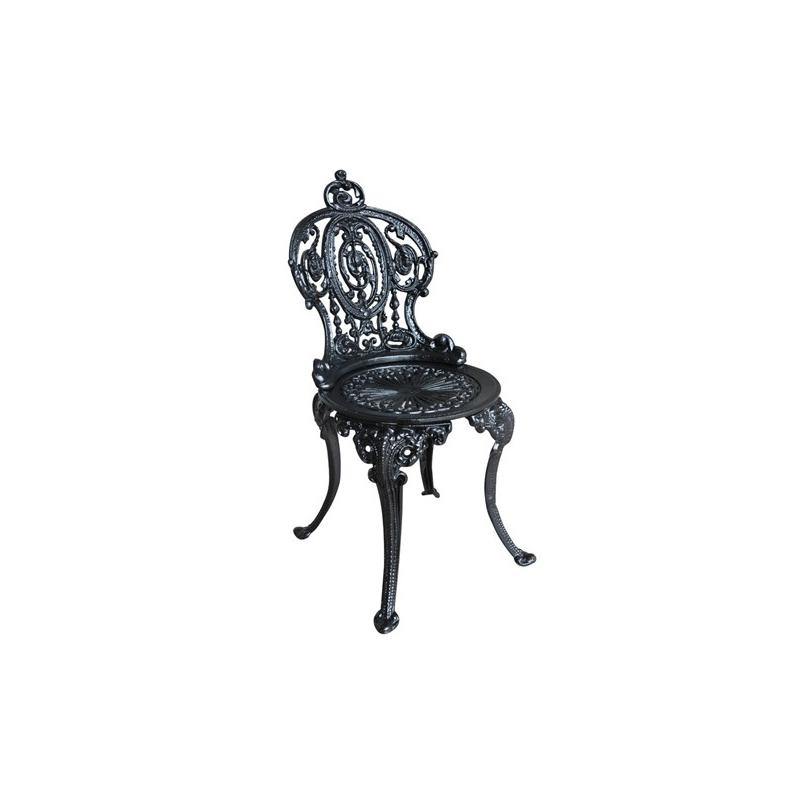 Chaise anglaise en fonte noire