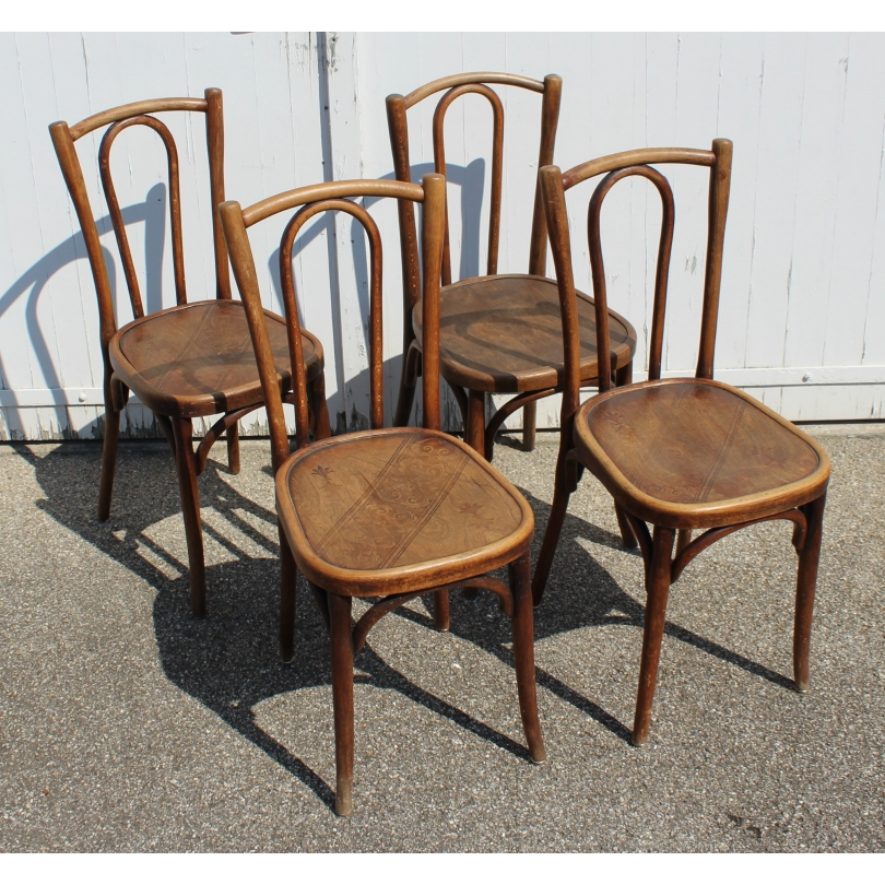 Suite of 4 chairs bistro