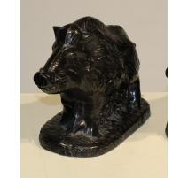 Wildschwein aus gusseisen schwarz von ARDENNES