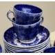 Tea set in faience of Sarreguemines