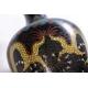 Vase cloisonné décor de dragons sur fond noir