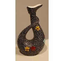 Vase Drakar en céramique signé Alfredo Santarelli