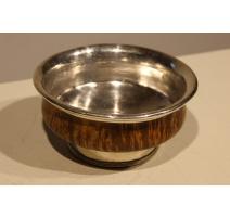 Bol de thé Tibétain en bois et argent