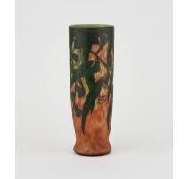 Vase tubulaire signé DAUM Nancy