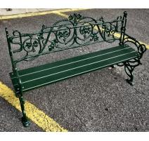 """Banc """"Lierre"""" en fonte d'aluminium verte"""
