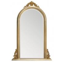 Miroir en forme d'arche avec fronton