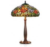 Lampe style Tiffany, abat-jour Fleurs