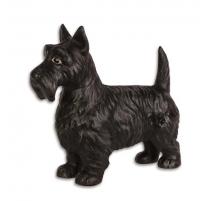 """Arrêt de porte """"Terrier écossais"""" en fonte noire"""
