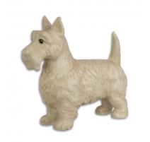 """Arrêt de porte """"Terrier écossais"""" en fonte blanche"""