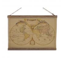 Planisphère imprimée sur tissus