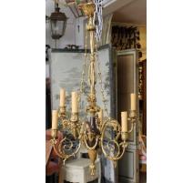 Lustre style Louis XVI à 6 lumières