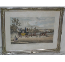 "Pair of engravings ""horse drawn Carriages""."
